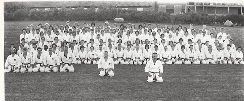 Shotokan karate træningslejren i Elbæk 1976