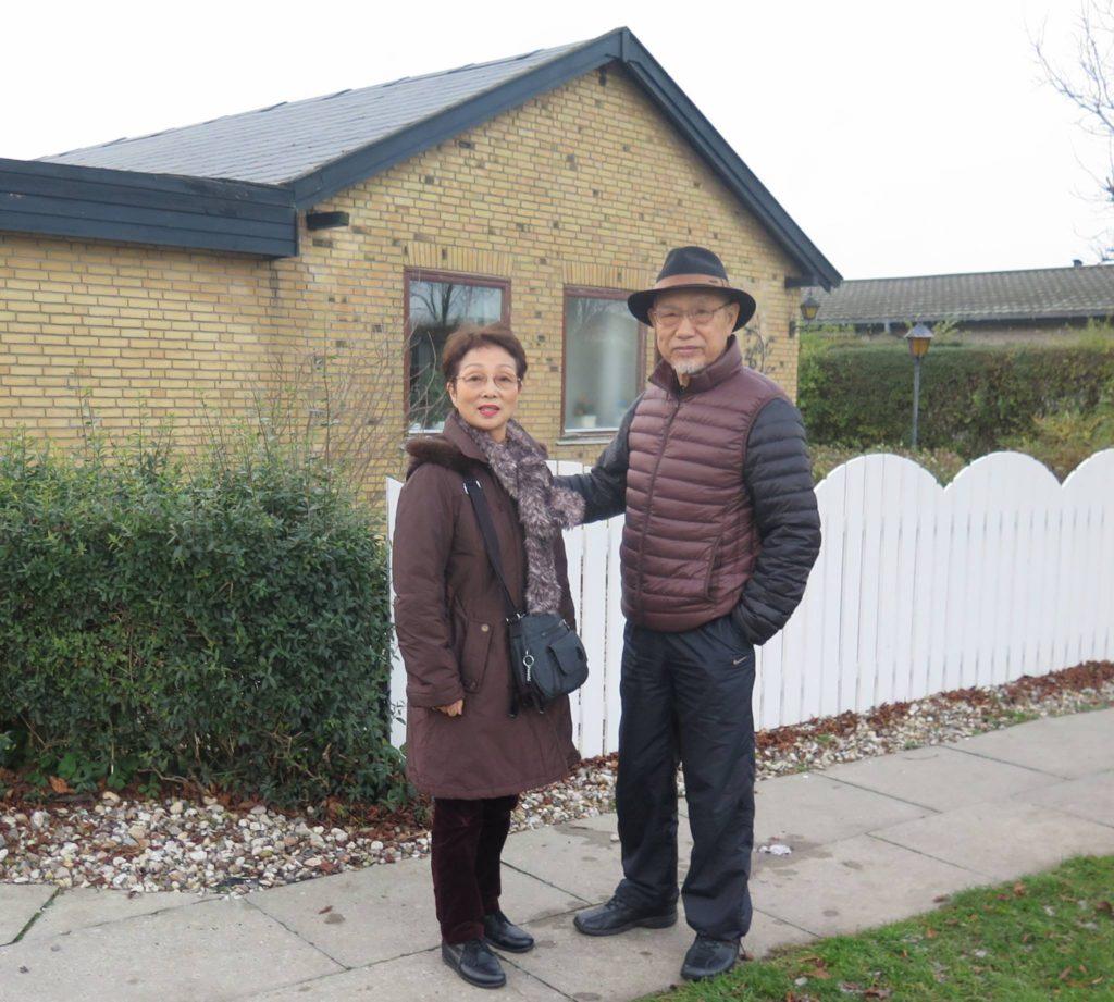 Tanaka sensei i Danmark 2015 sammen med hans kone, hvor han besøgte et af de to huse han boede i på Amager