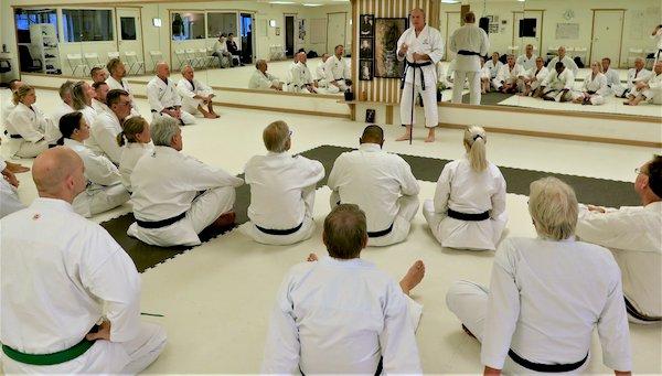 Seminar with Frank Starck-Sabroe sensei in Halmstad Karate Academy