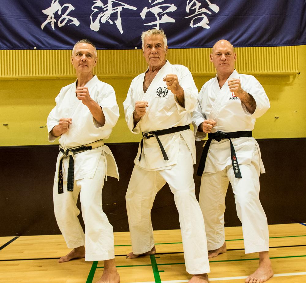 Jesper Palm Lundorf, Sven-Ole Thorsen og Frank Starck-Sabroe sensei