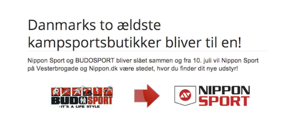 Nippon Sport og Budosport bliver slået sammen