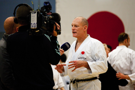 Chief Instructor Shotosha Denmark, Frank Starck Sabroe sensei gave interviews to TV 2