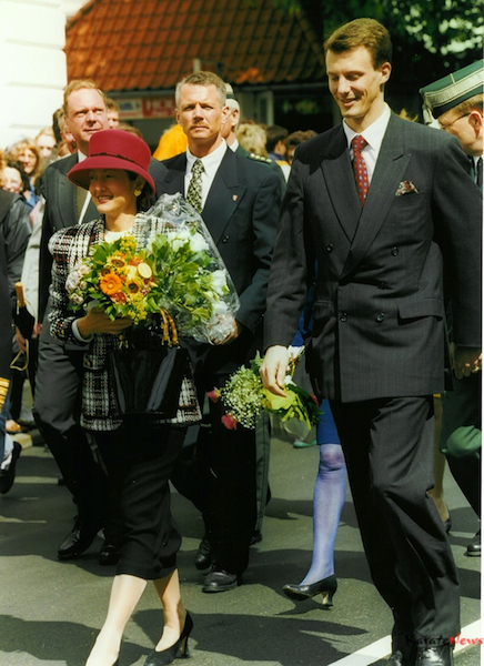Fra min tid som livvagt for kongehuset og her er det prins Joachim og Alexandra der var på besøg i Sønderjylland