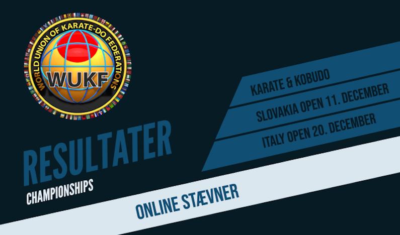 wukf karate online stævner