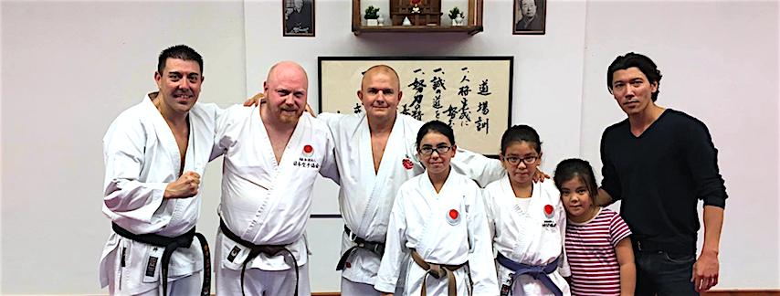 Besøg fra Tokyo og Berlin i Taifu Karate Dojo