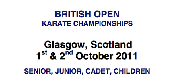 British Open 2011 i Glasgow & Czech Karate Open