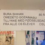 80 års fødselsdags reception for Bura Sensei