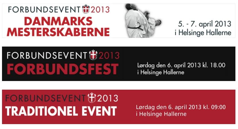 Dansk Karate Forbund afholder Danmarksmesterskaber i kommende weekend