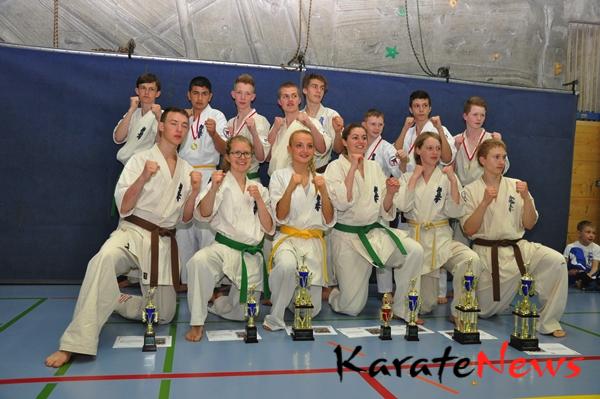 Danske deltagere fra Dansk Karate Union til Swiss Open 2013