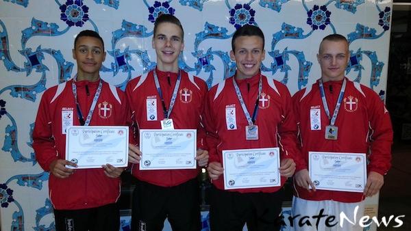 De 4 medaljetagere-imp
