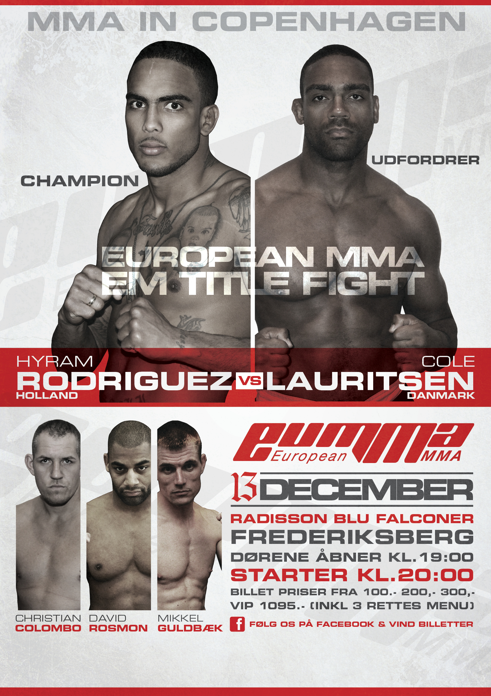 European MMA 3 – konkurrence om 2 billetter