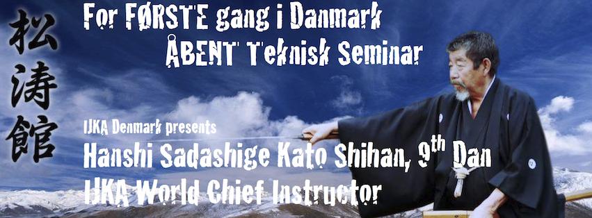 Seminar med Hanshi Sadashige Kato Shihan 9. dan