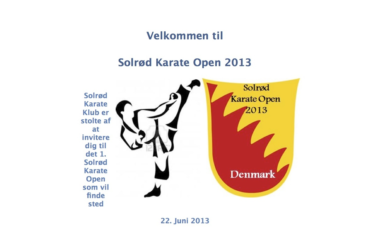 Solrød Karate Open 2013