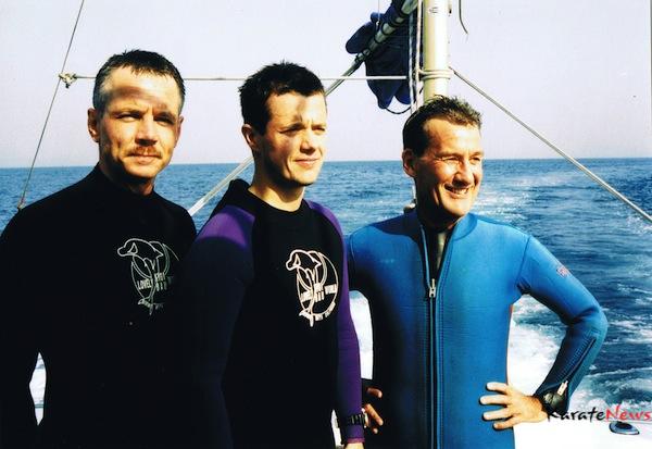 Fra en tur i Japan med Kronprinsen og her på vej ud på en dykkertur.