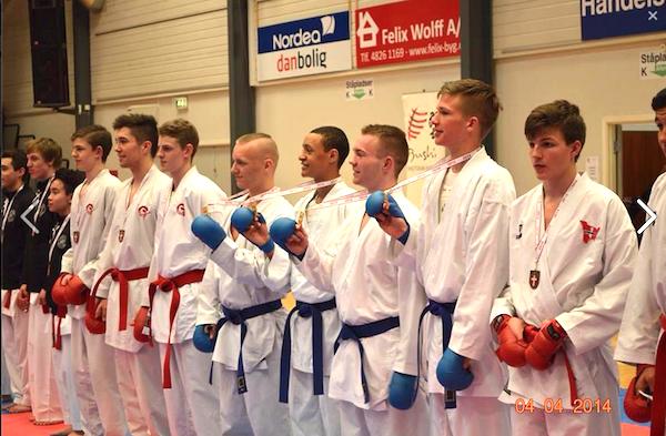 Greve - danske holdmestre kumite junior drenge