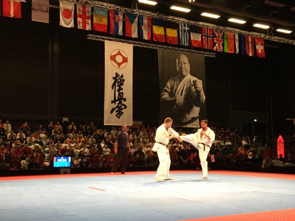 Semifinalen mænd 80-85 kg; Valdemares Gudauskas, Litauen og Marius Ilas, Rumænien. Valdemares blev Europamester