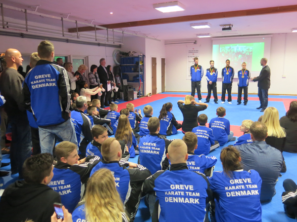 WKF EM reception i Greve Karate Klub