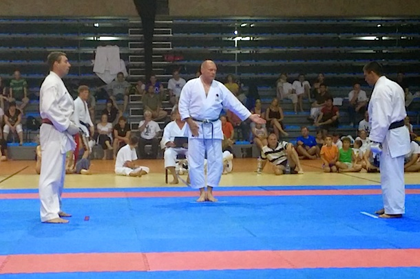 Frank Starck-Sabroe sensei as chiefjudge at the Shotokan Cup