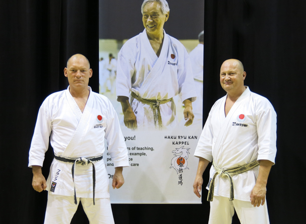 Frank Starck-Sabroe sensei and Peter De Grande from JKA Belgium