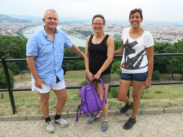 Members from Shotosha Denmark - sensei Jesper F. Andersen, Charlotte and Elsa-Maria sightseeing in Budapest
