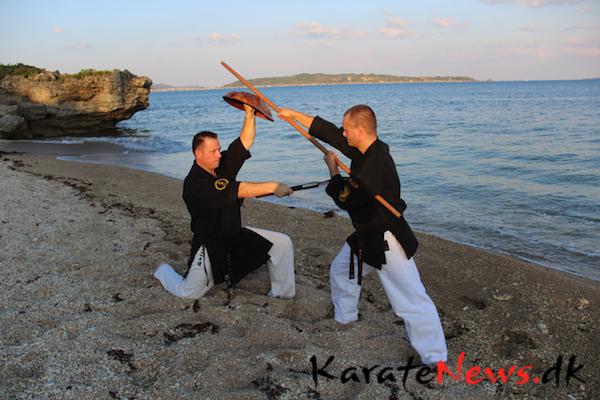 Tokushinryu Kobudo Instructor træning på Okinawa.