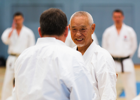 Shihan Tanaka placed great emphasis on the importance of friendship in karate and the focus on karate-do.