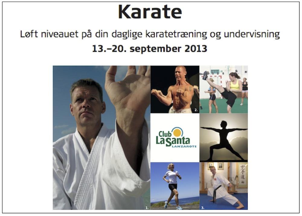 Karate i et nyt perspektiv – karateuge på Club La Santa