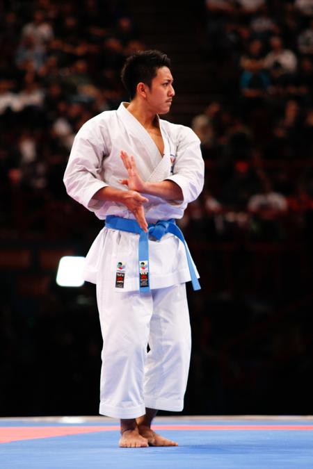 Ryo Kiyuna fra Japan er i finalen i herre kata ved VM i wkf karate