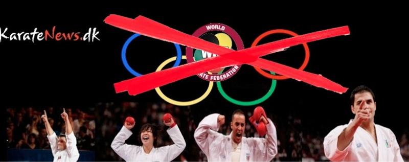 Karate kommer ikke med til OL 2020!