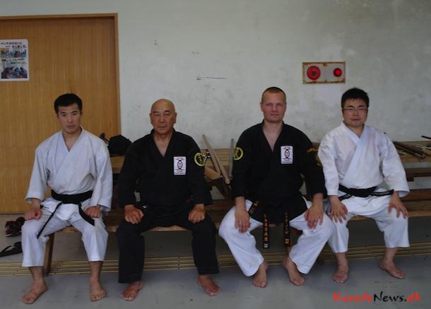 Fra Venstre: Sakamoto San, Tokumura Sensei, Mads Nørby, Nagira Sensei
