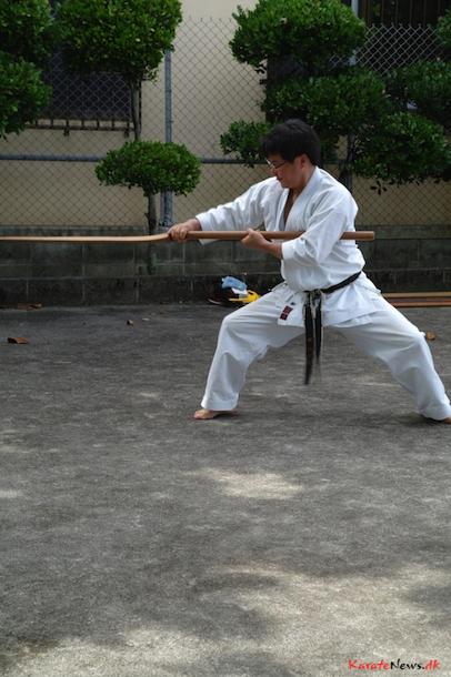 Yanagi San fra Chiba Tokyo, Japan udfører Tokushin no Eku kata