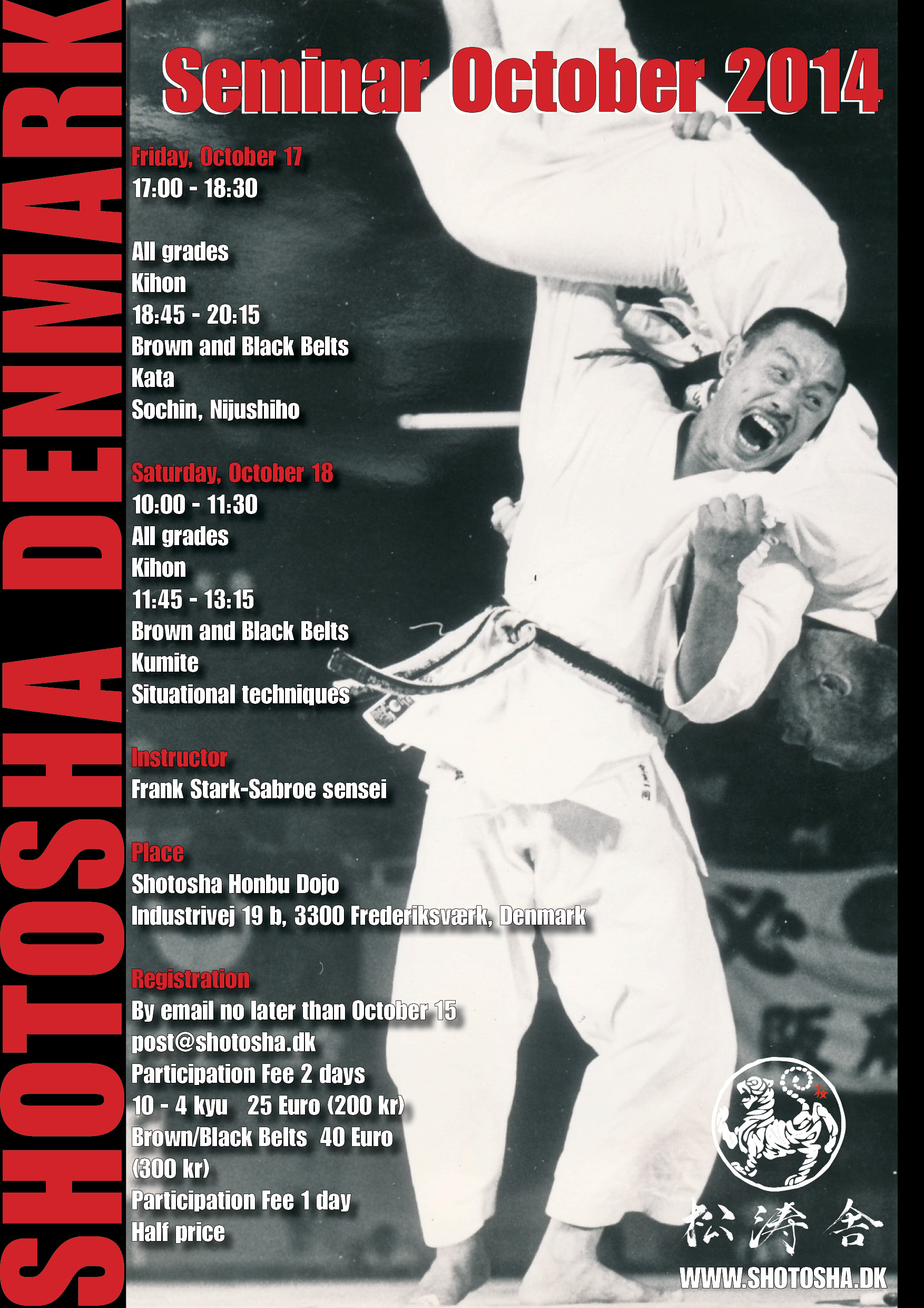 October seminar with Frank Starck-Sabroe sensei