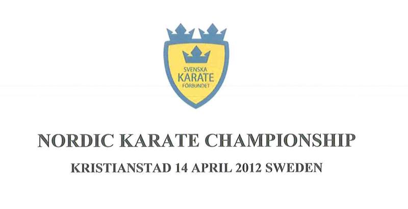 Nordiske mesterskaber i karate 2012 i Kristianstad