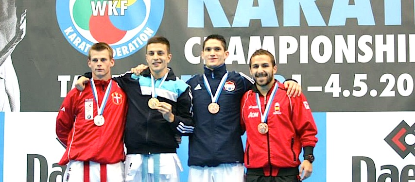 Sølv til Casper Lidegaard ved senior WKF EM finale i kumite – 60 kg