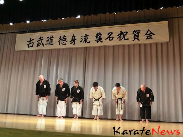 """Opvisning på Okinawa og  """"Okinawan speako!"""""""
