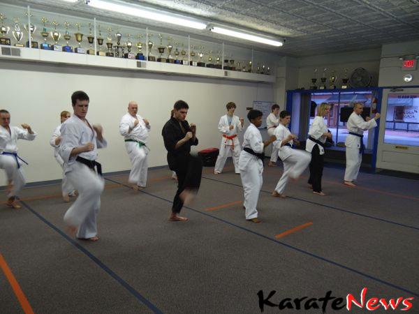 Karatetræning og seminar i St Louis USA
