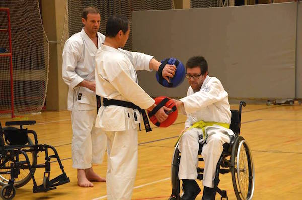 The Inclusive Karate Federation IKF IKANDO welcomes Kagawa Shihan for a successful training session!