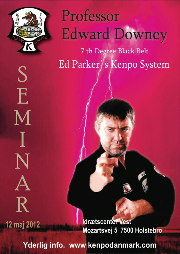 Kenpo Karate seminar med Edward Downey 7th degree black belt