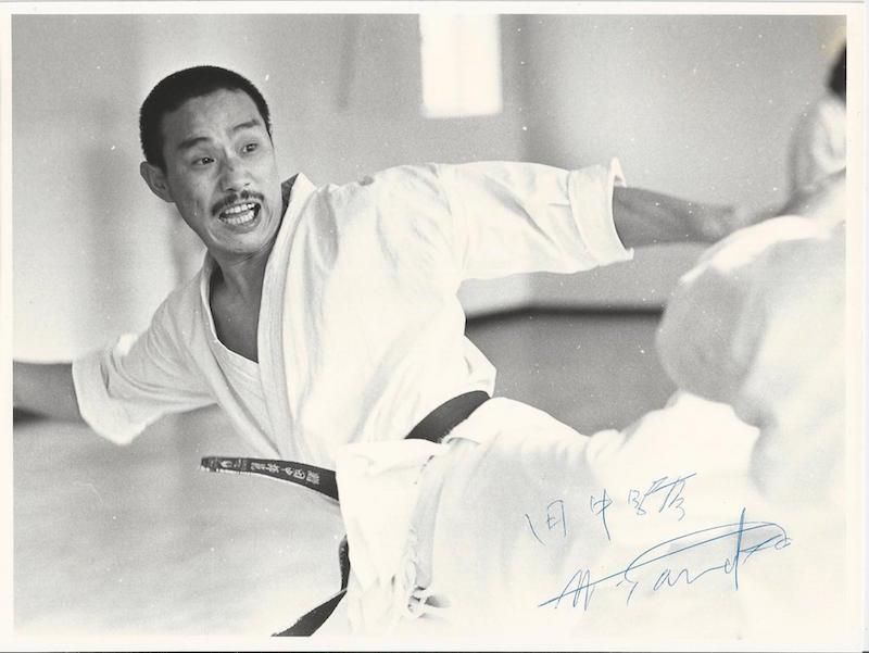 Tanaka sensei under træning i Frankrigsgade mens han boede i Danmark